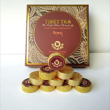 Schwarzer originaler Tee Gepresst
