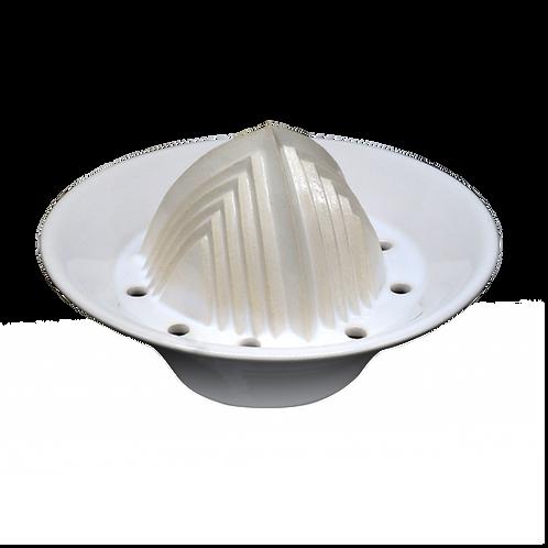 Handgemachter Keramik-Entsafter für zitrusfrüchte & mehr 6cmx8cmx14cm (Weiß)