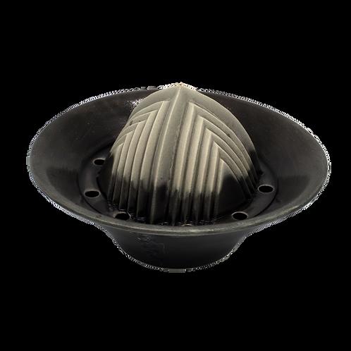 Handgemachter Keramik-Entsafter für zitrusfrüchte & mehr 6cmx8cmx14cm(Anthrazit)