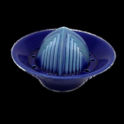 Handgemachter Keramik-Entsafter für zitrusfrüchte & mehr 6cmx8cmx14cm (Blau)