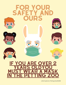 Little Explorers Petting Zoo wear a mask sign 2021 .png