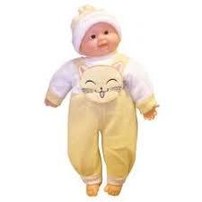 BONECA BABY COM CORPO DE PANO, COM SOM