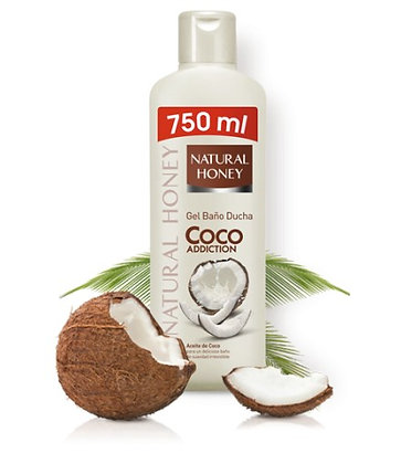 NATURAL HONEY GEL PARA BANHO COCO ADICTION