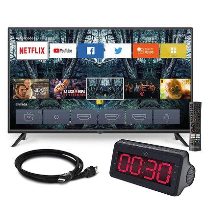 """SMART TV 43"""" NORTH TECH + RELOGIO E HDMI DE BRINDE"""