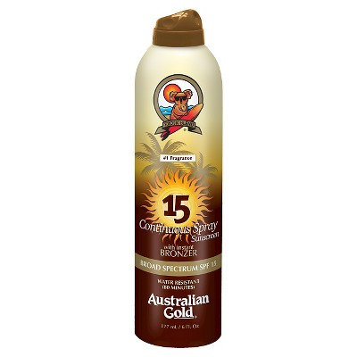 Australian Gold Continuous Spray w/ Bronzer SPF 15
