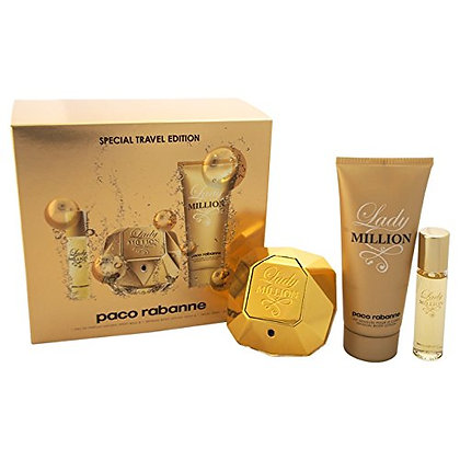 PACO RABANNE LADY MILLION EDP 80 ML + BODY LOTION 100 ML + TRAVEL SPRAY 10 ML