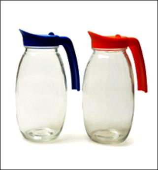 JARRA DE VIDRO C/TAPA PLASTICA 1.4L COLOR