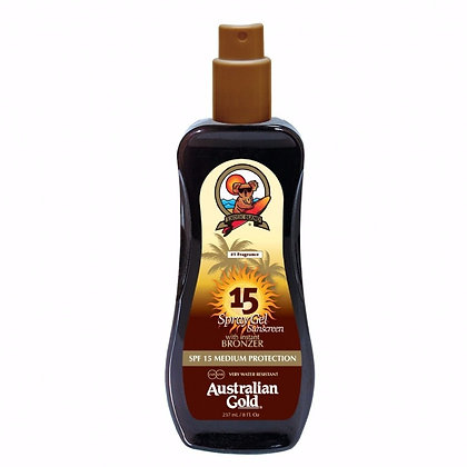 Australian Gold Spray Gel SPF 15 W/ Bronzer