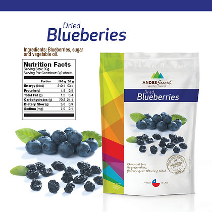 DRIED BLUEBERRIES DOYPACKS 80 GR