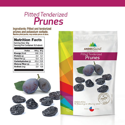 PITTED PRUNES 250 GR