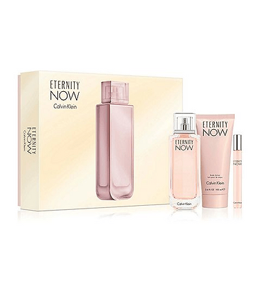 ETERNITY NOW WOMAN  EDP 100 ML + ROLLERBALL EDP 10 ML + BOFY LOTION 100 ML