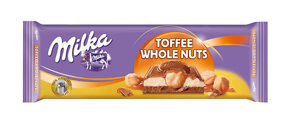 MILKA TOFFEE WHOLE NUTS 300 GR