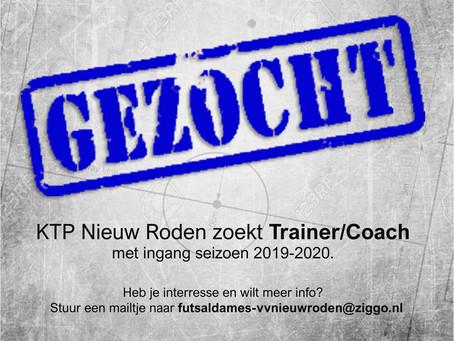 Gezocht Trainer/Coach