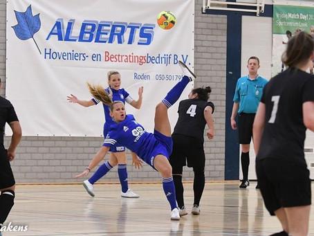 KTP Nieuw Roden wint in sporthal De Hullen in Roden van Futsal Apeldoorn en blijft koploper