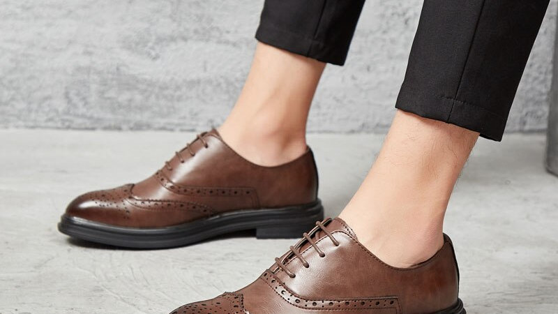 Men's Oxford Shoes Brown or Black Leather