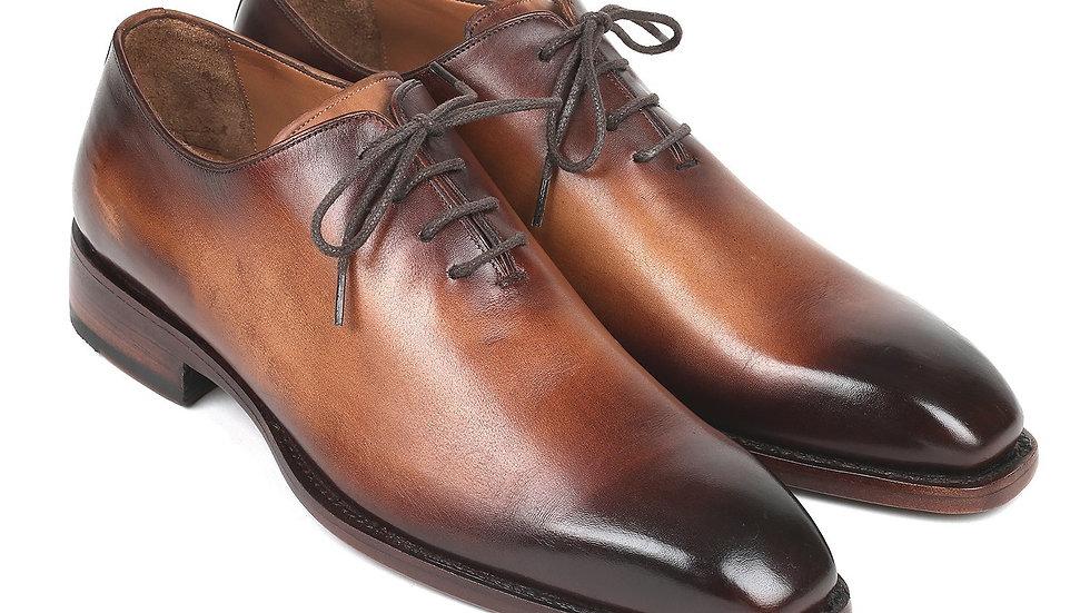 Paul Parkman Wholecut Oxfords Brown Leather