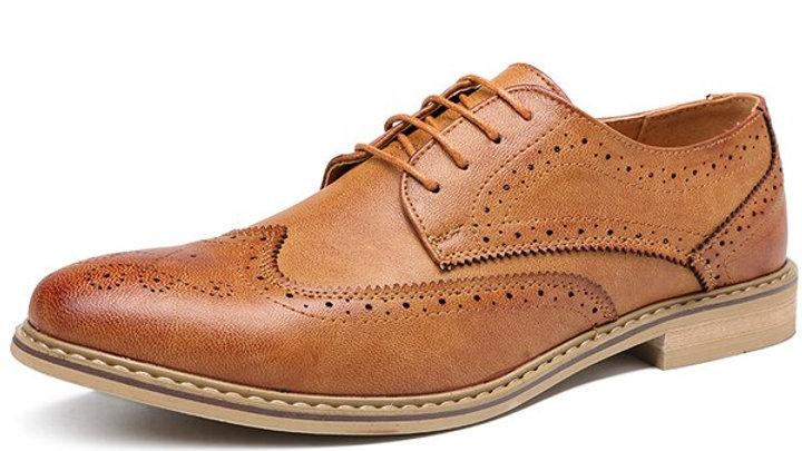 Men's Derby Shoes Full Brogue, Microfiber