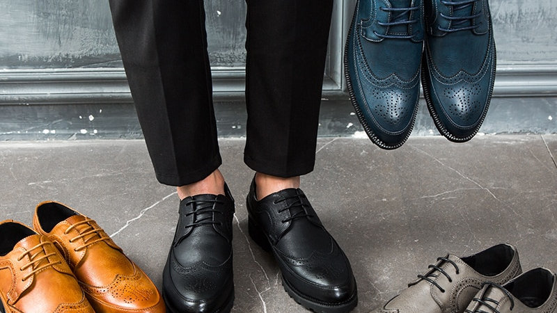 Men Derby Shoes with Brogue