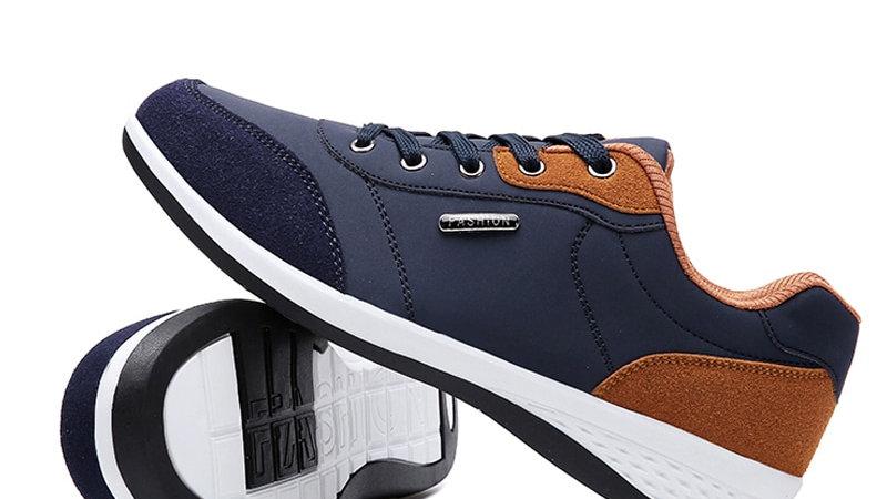 Lace-Up Men Fashion Shoes Microfiber & Leather