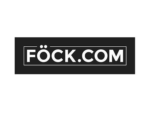 FÖCK.COM - 10 Stk. Sticker / Aufkleber