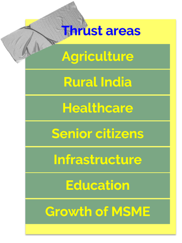 thrust areas of union budget 2018