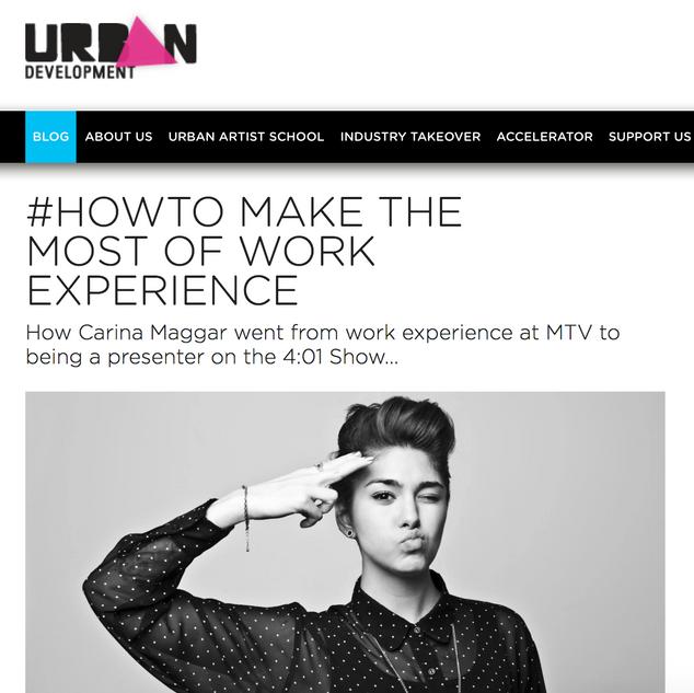 Urban Development: Work Experience