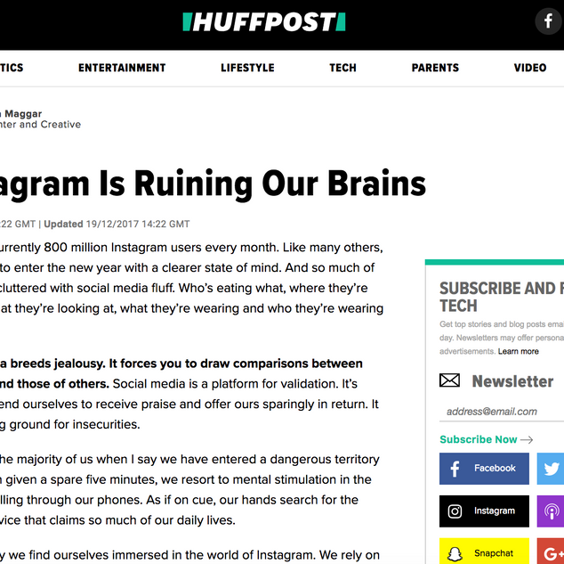 Huffington Post Article