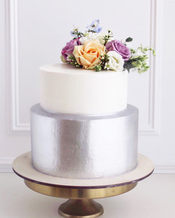 серебряный торт