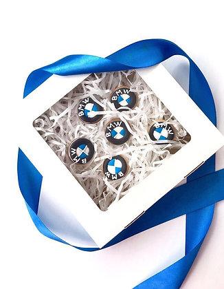 Коробка для пряничков с окном 20х20х5см