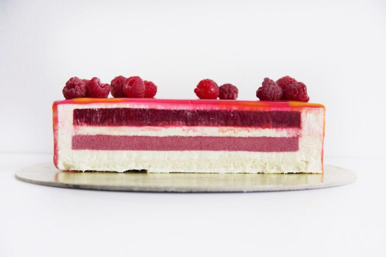 муссовый торт на заказ малина