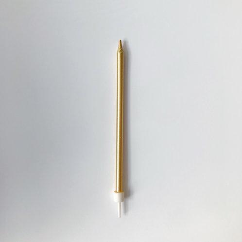 Свеча золотая 13см (1шт)
