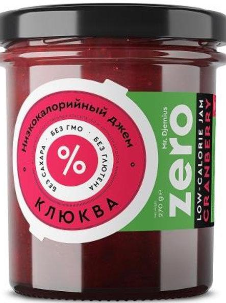 Джем низкокалорийный джем ZERO Клюква, 270 г