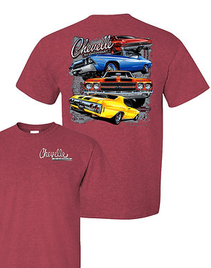 Late Model Chevelle 4 cars T-Shirt (TDC-269R)