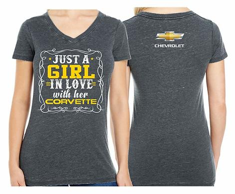 Ladies I Love My Corvette Tshirt (NSG-227R)