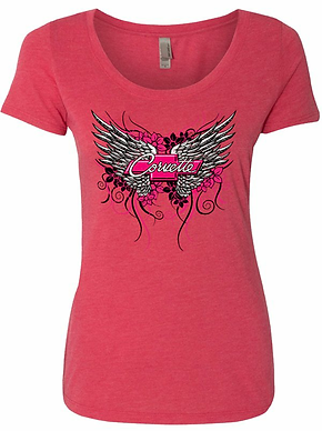 Ladies Corvette Wing Tshirt (NSG-403)