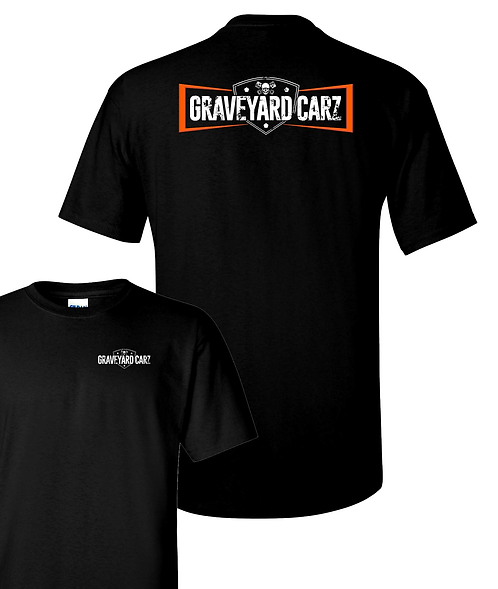 Graveyard Carz Orange Logo T-Shirt (GYC-017)