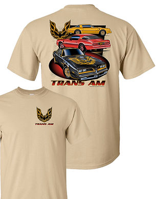 Three Trans Am TShirt in Khaki (TDC-268)