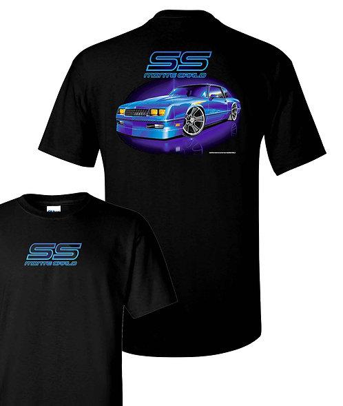 80's Monte Carlo Black T-shirt (TDC-165N)