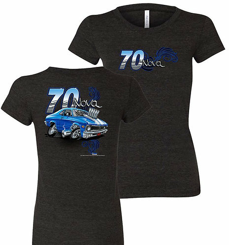 Ladies 70 Chevrolet Nova Tooned Up Tshirt (NSG-223R)