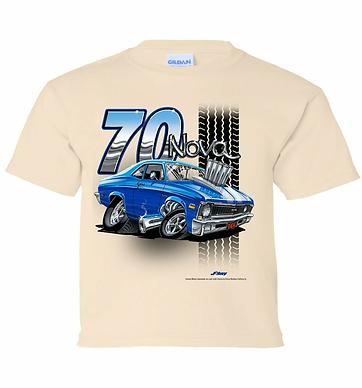 Youth 70 Chevy Nova Tooned Up Tshirt (TDC-223Y)