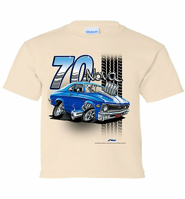Youth 70 Chevy Nova Tooned Up Tshirt (TDC-223YR)