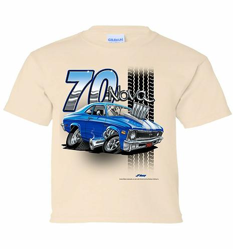 Youth 70 Chevy Nova Tooned Up Tshirt (TDC-223YR)