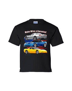 C5 &C6 Corvette Youth T-Shirt (TDC-178Y)