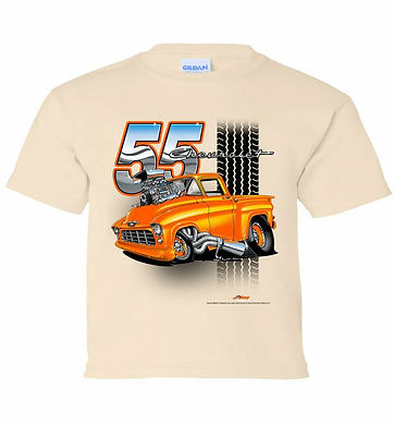 Youth 55 Chevy Truck Tooned Up Tshirt (TDC-222Y)