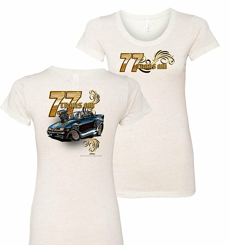 Ladies 77 Trans Am Tooned Up Tshirt (NSG-221R)