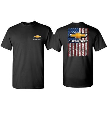 Chevy Bowtie American Flag Tshirt (TDC-230)