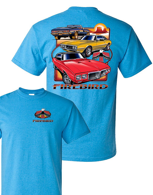 Firebird three car on blue (TDC-270)