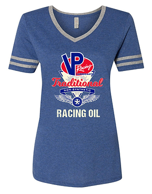VP Racing Oil Ladies Varsity Style T-Shirt (VP-003R)