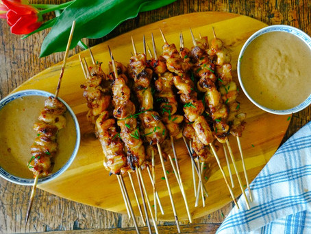 Chicken with satay sauce with a twist!