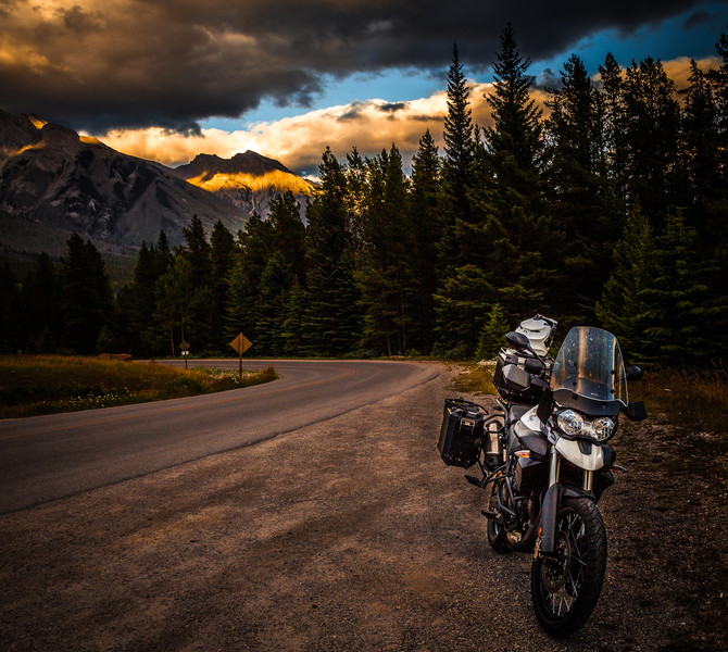 Canada on a Motorcycle, Day 5: The Road to Banff